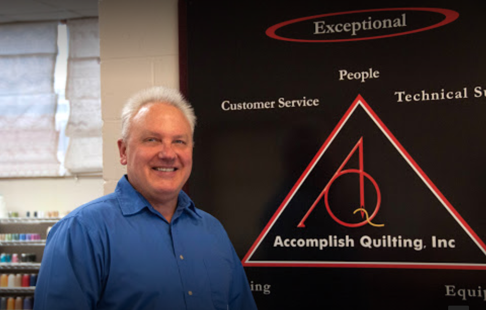 Owner of Accomplish Quilting, Jeff Benedict